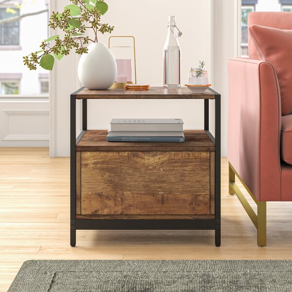 Caroline End Table with Storage by Foundstone