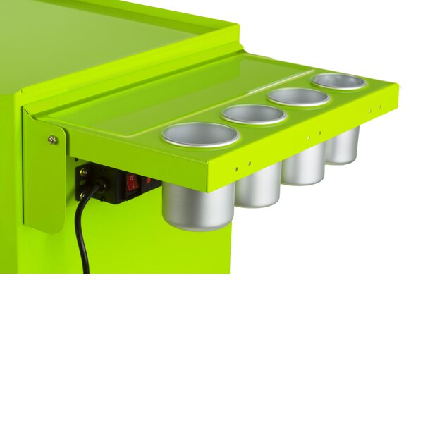 Folding Salon Cart Power Shelf by Viper Tool Storage