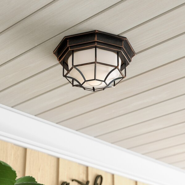Berezinsky Outdoor Flush Mount by Winston Porter