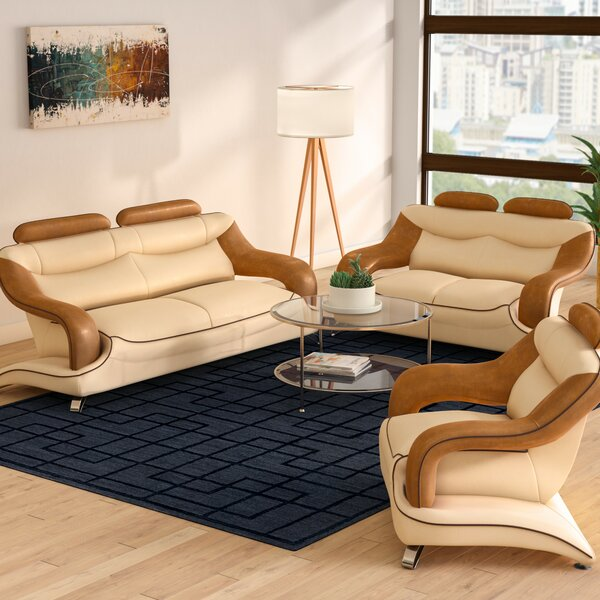 Mcfall 3 Piece Living Room Set by Brayden Studio