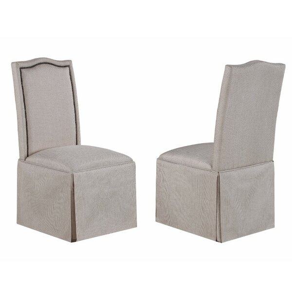 Berdina Elegantly Charmed Upholstered Dining Chair (Set of 2) by House of Hampton