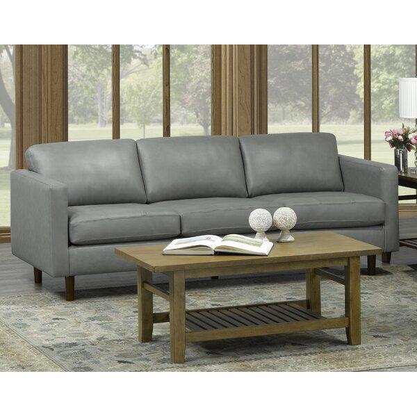 Cheap Good Quality Lassen Genuine Leather Sofa by Brayden Studio by Brayden Studio