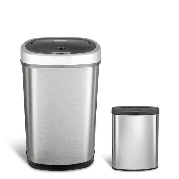 2-Piece Nine Stars Motion Sensor Trash Can Set by Nine Stars