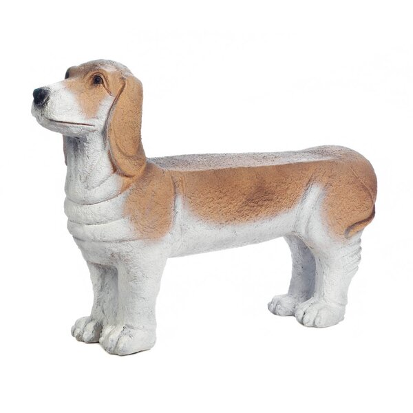 Small Basset Hound Doggy Garden Bench by Zingz & Thingz