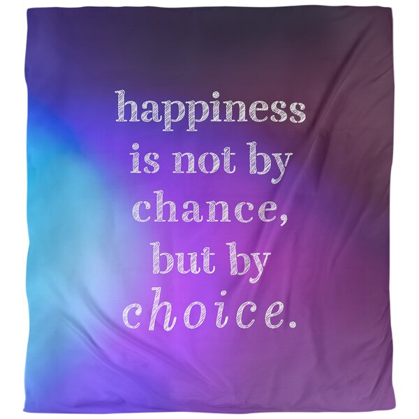Quotes Happiness Inspirational Single Reversible Duvet Cover