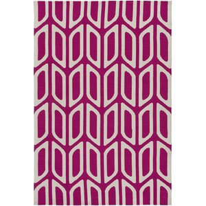 Joan Wellesley Hand Tufted Hot Pink Area Rug