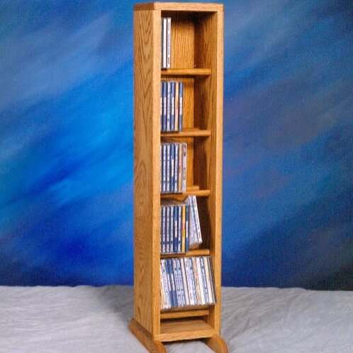 500 Series 70 CD Dowel Multimedia Storage Rack by Wood Shed