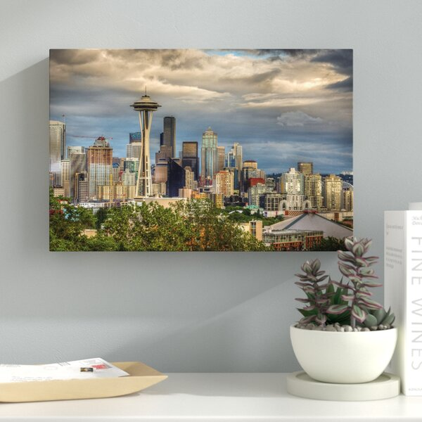 Seattle Photographic Print on Wrapped Canvas by Latitude Run