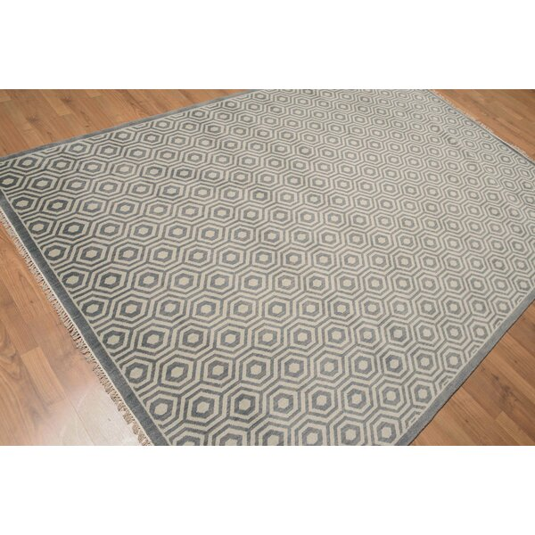 One-of-a-Kind Doyon Hand-Knotted Wool Dark Gray Area Rug by Corrigan Studio