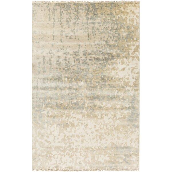Eridani Ivory/Slate Solid Rug by Latitude Run