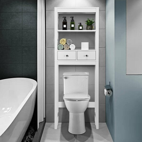 Binghamton 23.5'' W x 65'' H x 8'' D Over-the-Toilet Storage