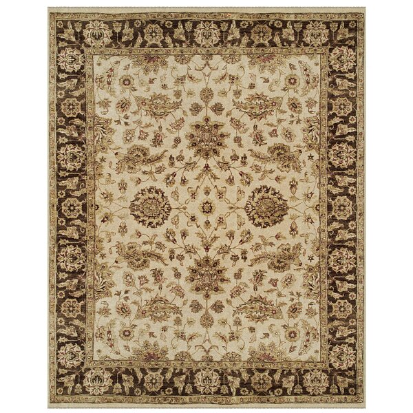 Barley Ivory/Brown Area Rug by Astoria Grand