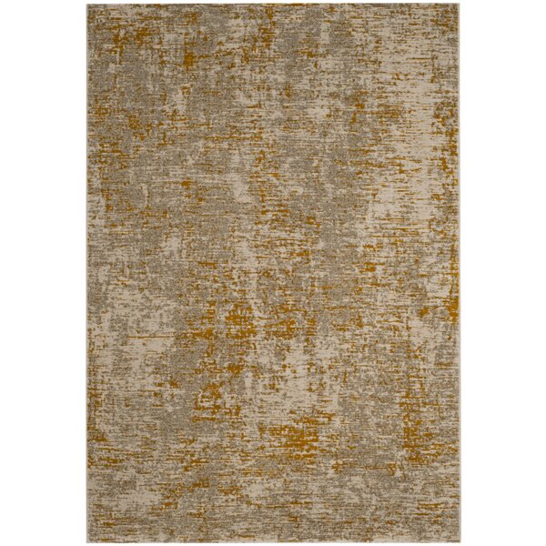 Sorrentino Gray/Gold Area Rug by Wrought Studio