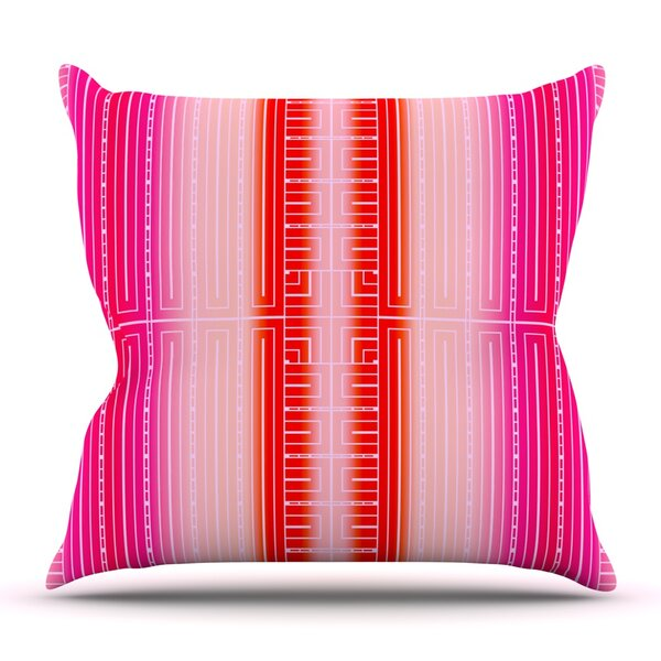 Deco City Blush by Nina May Outdoor Throw Pillow by East Urban Home