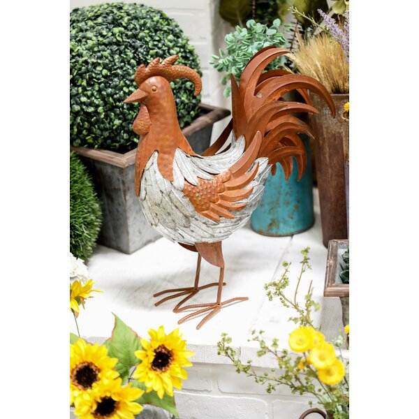 Dravo Farmhouse Standing Rooster Figurine by August Grove