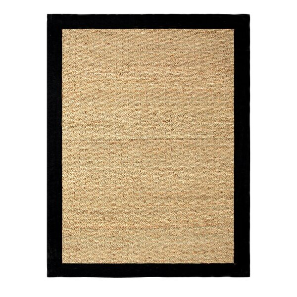 Pine Beige/Black Area Rug by Bay Isle Home