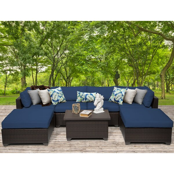 Medley 7 Piece Sectional Seating Group with Cushions by Rosecliff Heights