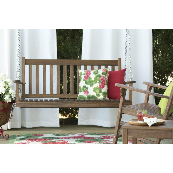 Slatted Eucalyptus Porch Swing by Plow & Hearth