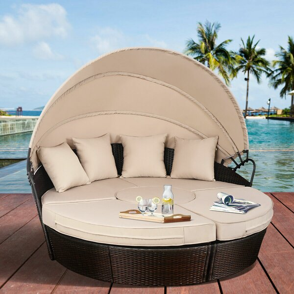 Humphery Patio Daybed with Cushions by Red Barrel Studio