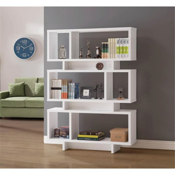 Newkirk Geometric Bookcase By Brayden Studio