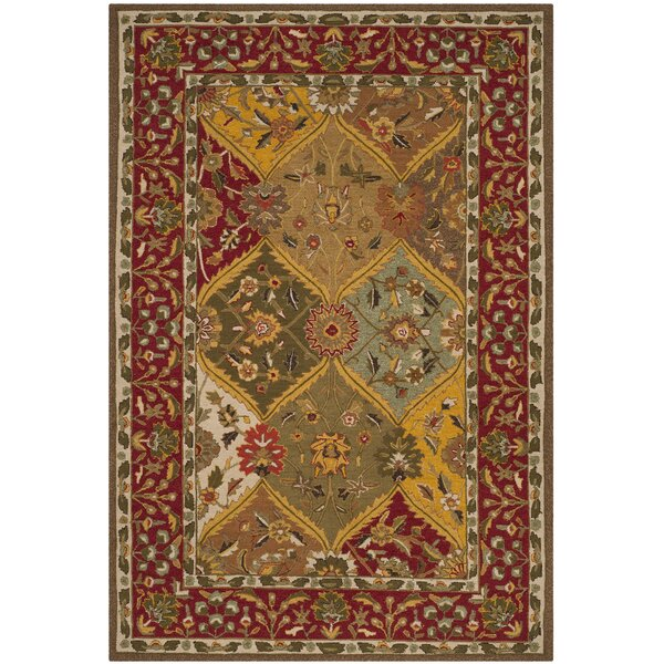 Talmo Hand-Hooked Red/Brown Area Rug by August Grove