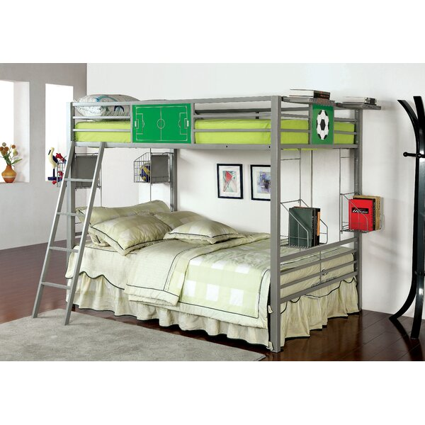 Full Over Full Bunk Bed with Shelves by Hokku Designs