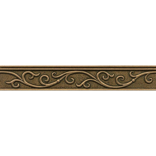 Ambiance Gothic Leaf Liner 1-3/4 x 12 Resin Tile in Bronze by Bedrosians