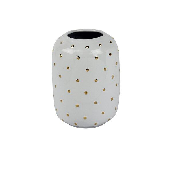 Decorative Cylinder Ceramic Table Vase by Rosdorf Park