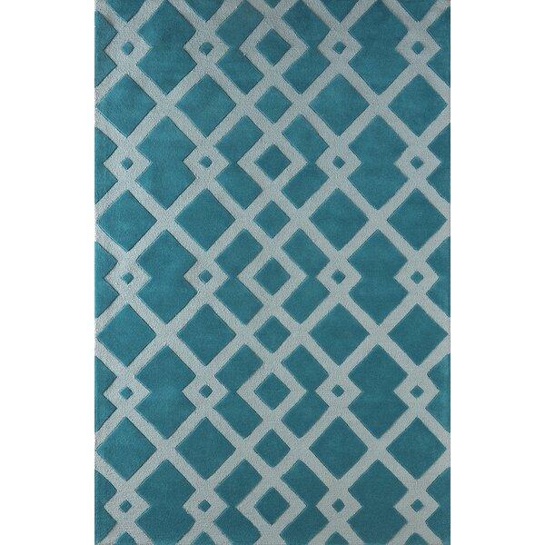 Glenside Hand-Tufted Blue Area Rug by Mercer41