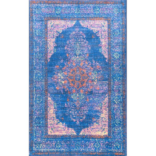 Chamorro Blue Area Rug by Bungalow Rose