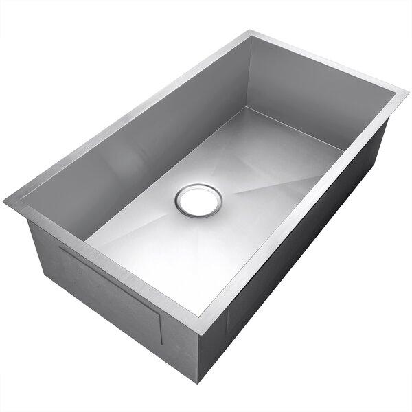 33 x 22 Undermount Stainless Steel Single Bowl Kitchen Sink by AKDY