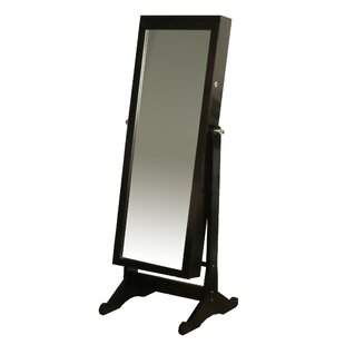 High-End Standing Jewelry Armoire with Mirror By Richards Homewares