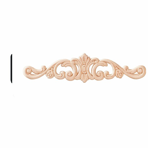 1/4 in. x 2-1/2 in. x 10-1/2 in. Birch Acanthus Accent Moulding by Manor House