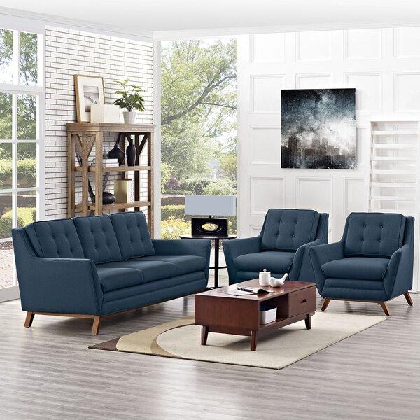 Binder 3 Piece Living Room Set by George Oliver