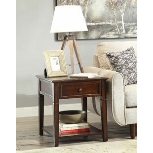 Palmetto End Table with Storage by DarHome Co