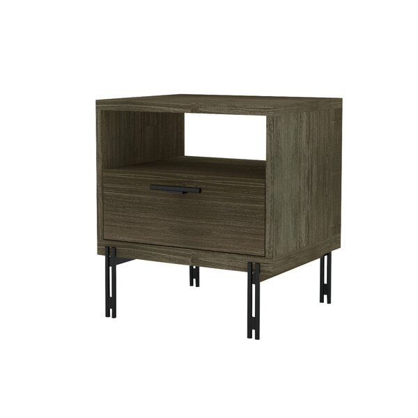 Nickalos 1 Drawer Nightstand by Latitude Run