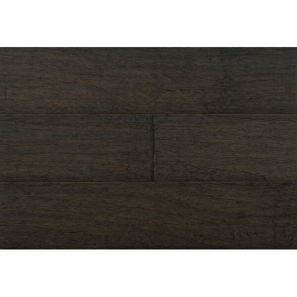 Dolce 6-1/4 Engineered Pecan Hardwood Flooring in Black by IndusParquet
