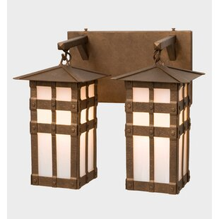 Reviews San Carlos 2-Light Outdoor Wall Lantern By Steel Partners