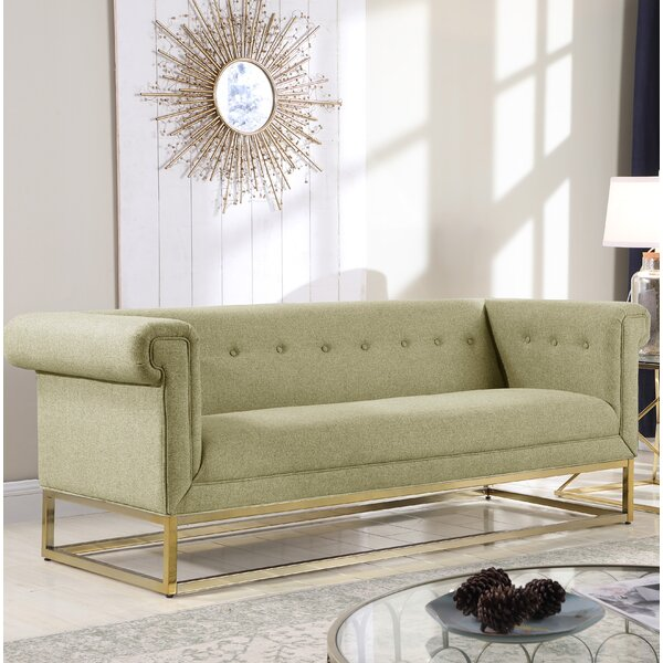 Amazing Selection Dollman Button Tufted Sofa by Everly Quinn by Everly Quinn