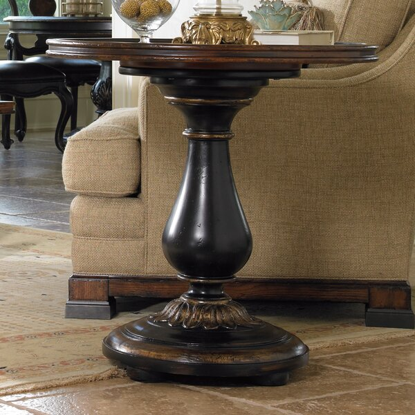 Baptista Pedestal End Table By Fleur De Lis Living