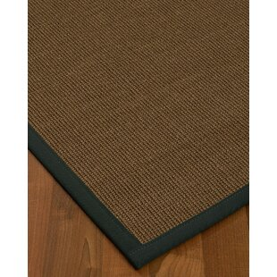 Kerner Border Hand-Woven BrownOnyx Area Rug by Bayou Breeze