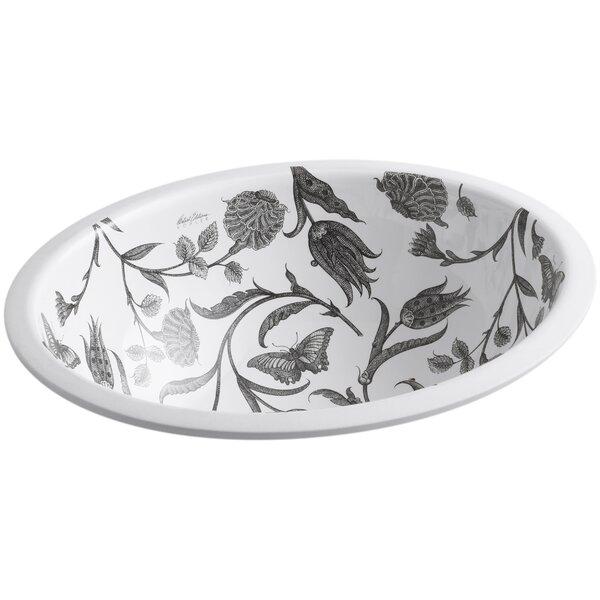 Botanical Study Ceramic Oval Undermount Bathroom Sink by Kohler