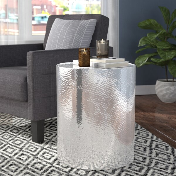Silverd Drum End Table By Willa Arlo Interiors
