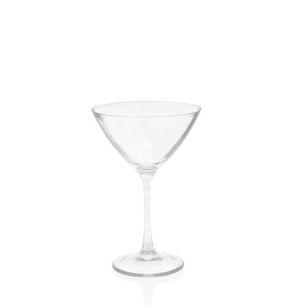 Louanne Martini Glass 10 oz. Plastic (Set of 4) by Mint Pantry