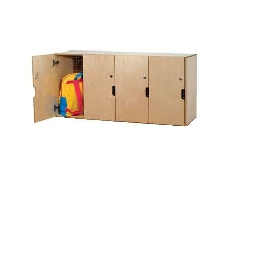 1 Tier 4 Wide Home Locker by Whitney Brothers1 Tier 4 Wide Home Locker by Whitney Brothers