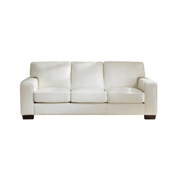 Web Buy Tennie Craft Leather Sofa by Three Posts by Three Posts