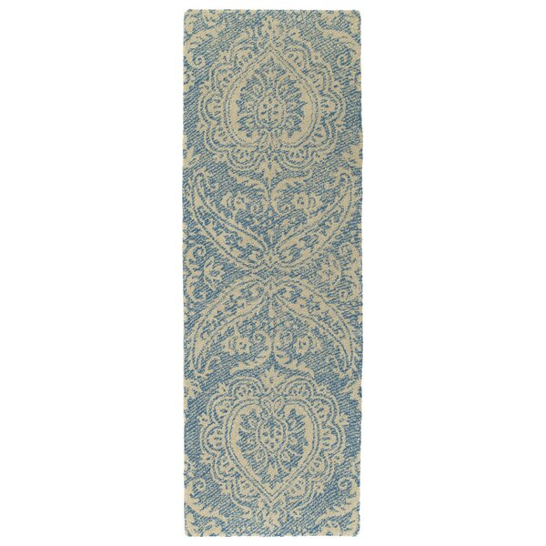 Crown Point Hand-Tufted Glacier Blue/Linen Indoor/Outdoor Area Rug by Ophelia & Co.