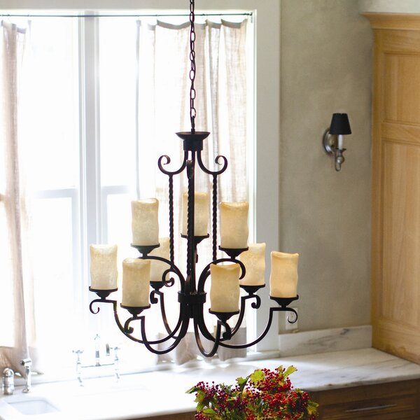 Jamar 9 - Light Shaded Tiered Chandelier By Darby Home Co