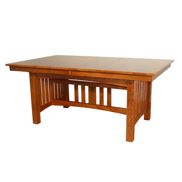 Spiegel Solid Oak Mission Solid Wood Dining Table by Red Barrel Studio