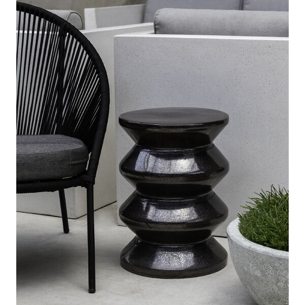 Zigzag Ceramic Garden Stool By Campania International by Campania International Discount
